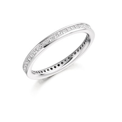 Princess Cut Channel Set Ring